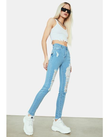 Reach Out 'N Touch Two Tone Star Jeans