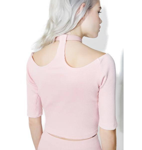 one spo Candy Heart Choker Top