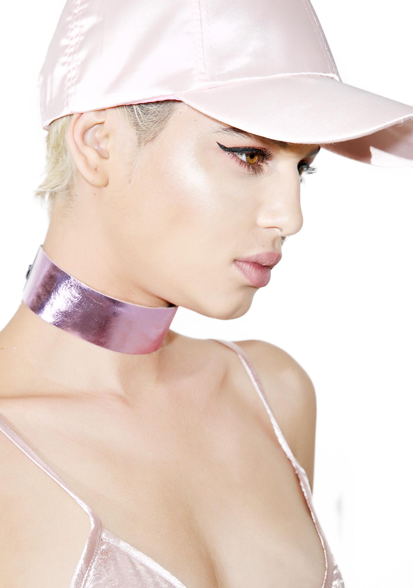 Regal Rose Metallic Pink Choker