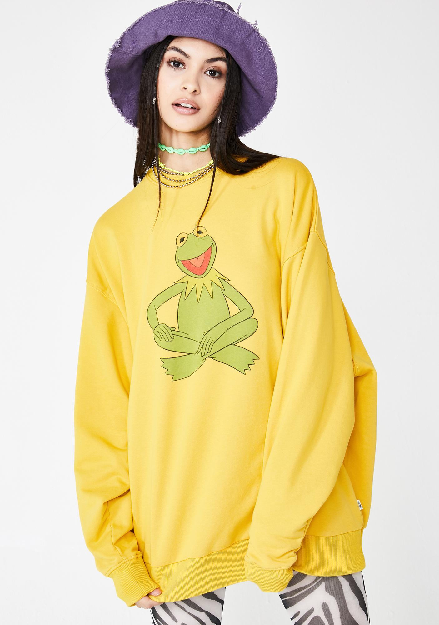Little Sunny Bite The Muppets Kermit Oversize Sweater