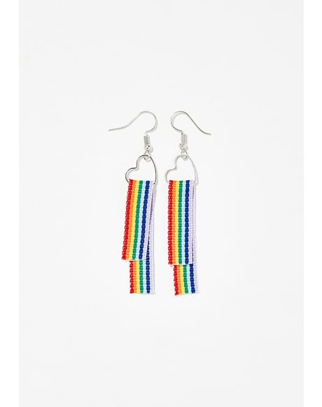Color My World Rainbow Earrings