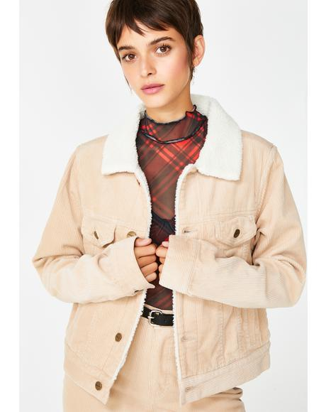 Brandy Corduroy Jacket
