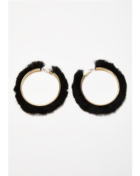 Feline Fancy Hoop Earrings