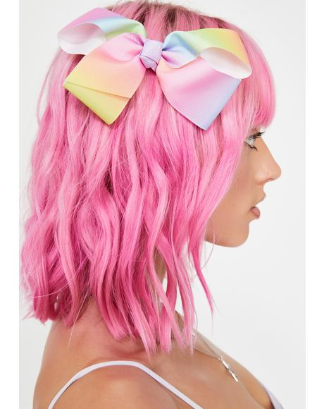Sherbert Skies Bow Hair Clip