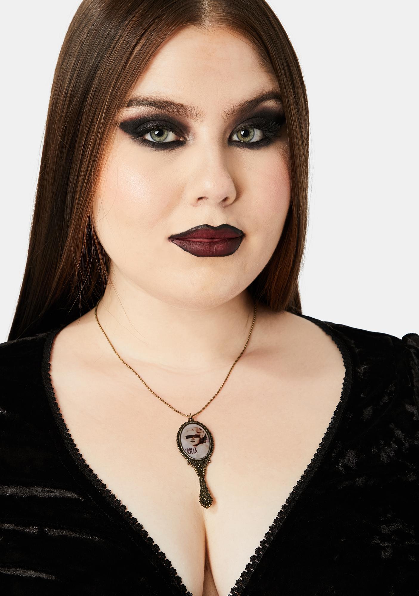 Se7en Deadly Vanity Kills Mirror Necklace
