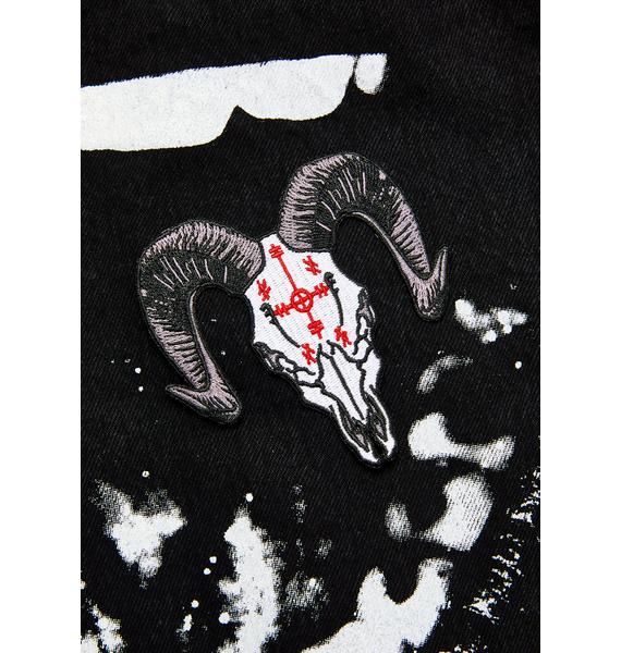 Kreepsville 666 Voodoo Goat Skull Patch