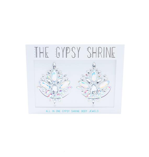 The Gypsy Shrine Silver Diamond Jewel Pasties