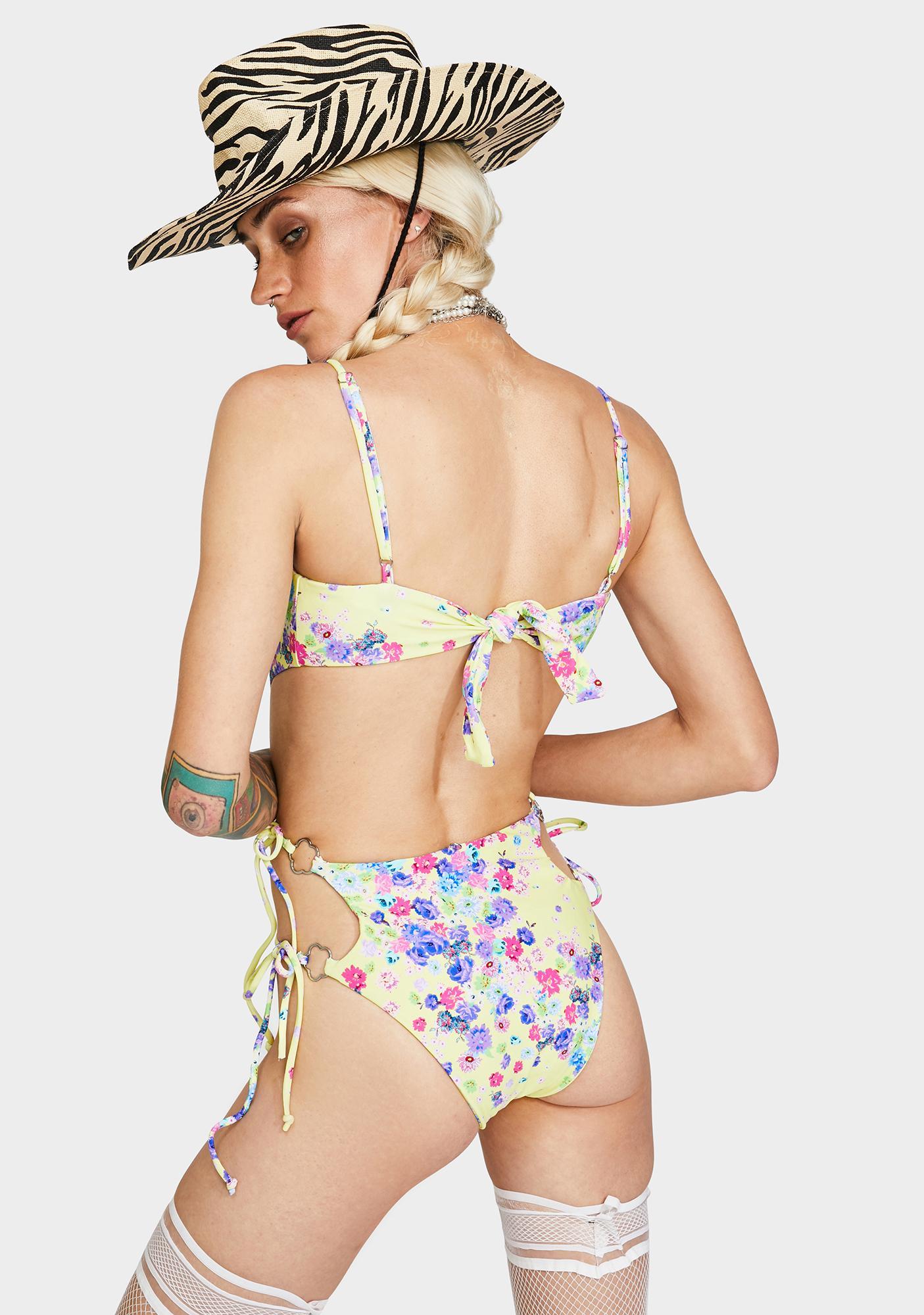 For Love & Lemons Dandelion One Piece Swimsuit