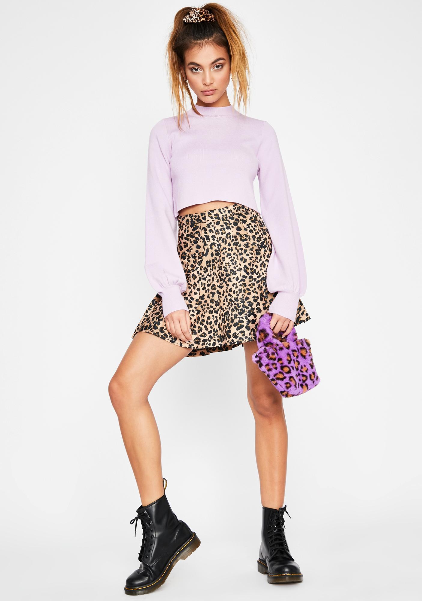Grape No Foolin' Knit Sweater