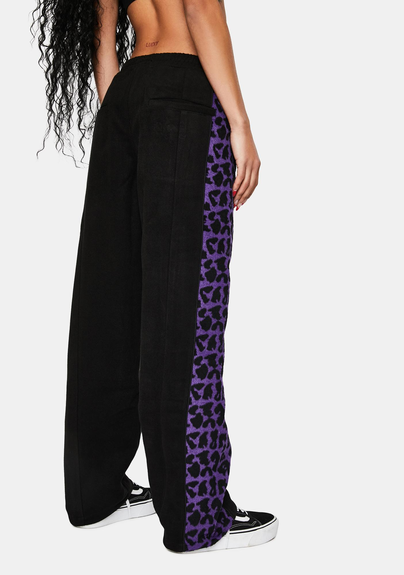 Pleasures Black Memories Leopard Velour Pants