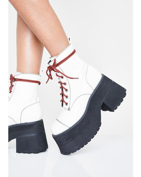 Icy Stacked With Sass Combat Boots