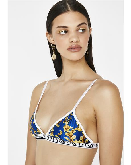 x Versace Sky Logo Simple Bra