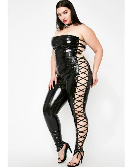 Just Worship My Body Vinyl Jumpsuit