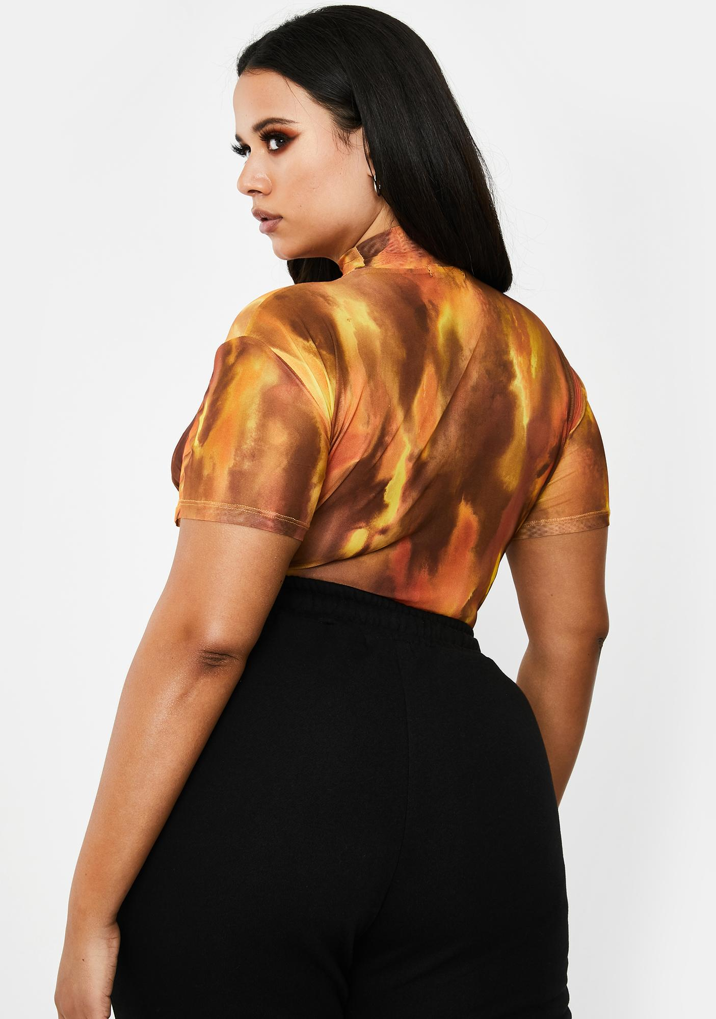 Poster Grl Glow She's Viral Overnight Mesh Top