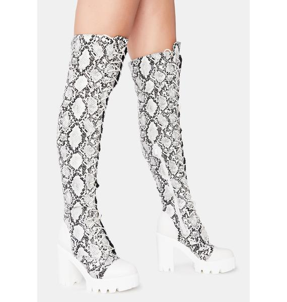 Toxic Fashion Blogger Knee High Boots