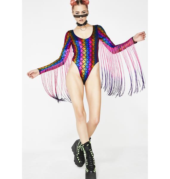 Jaded London Cleodora Fringe Swimsuit
