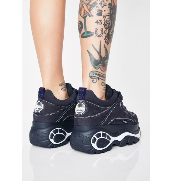 Buffalo London Navy Classic Low Leather Sneakers