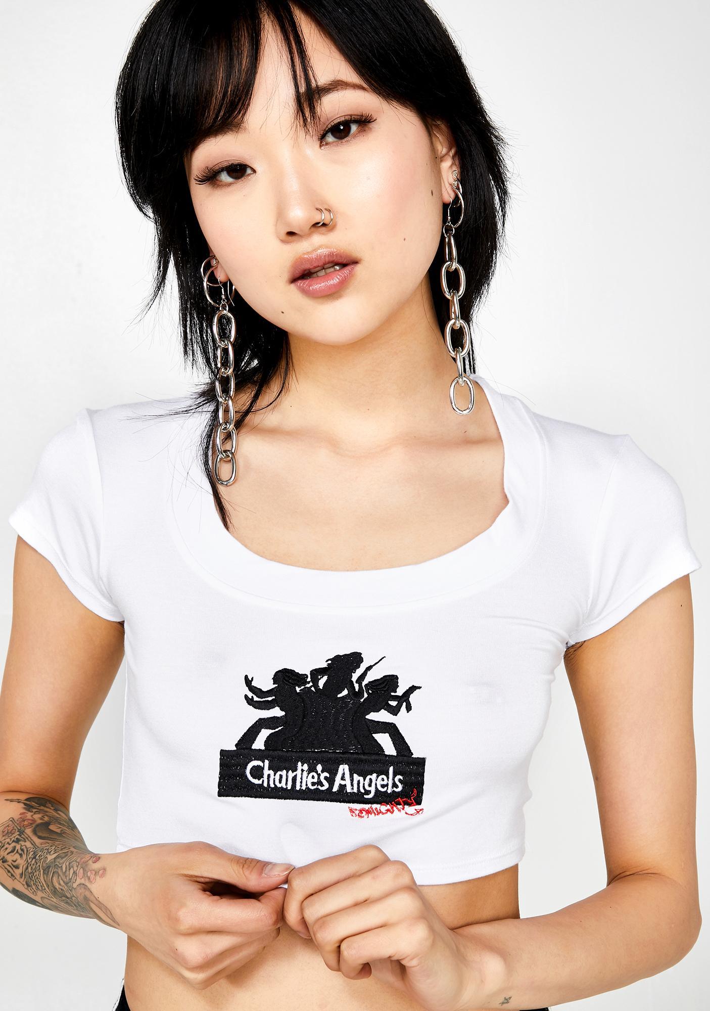 O Mighty Charlies Angels Baby Tee