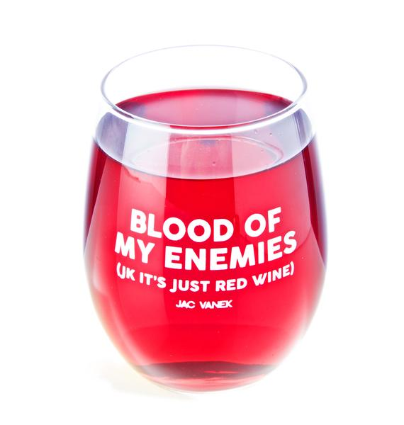 Jac Vanek Blood Wine Glass