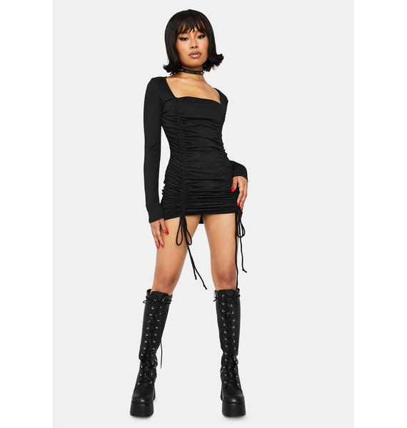 Babe In Charge Ruched Dress