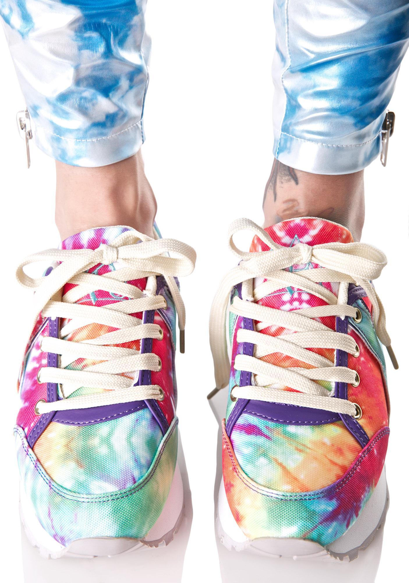 dba625bfa8dd ... Y.R.U. Tune Rainbow Tie Dye Sneakers