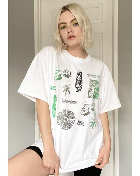 Scattered Leaves Graphic Tee