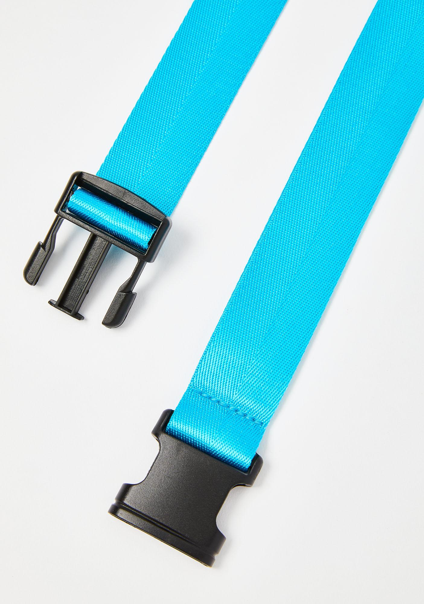 Aqua Get Checked Buckle Belt