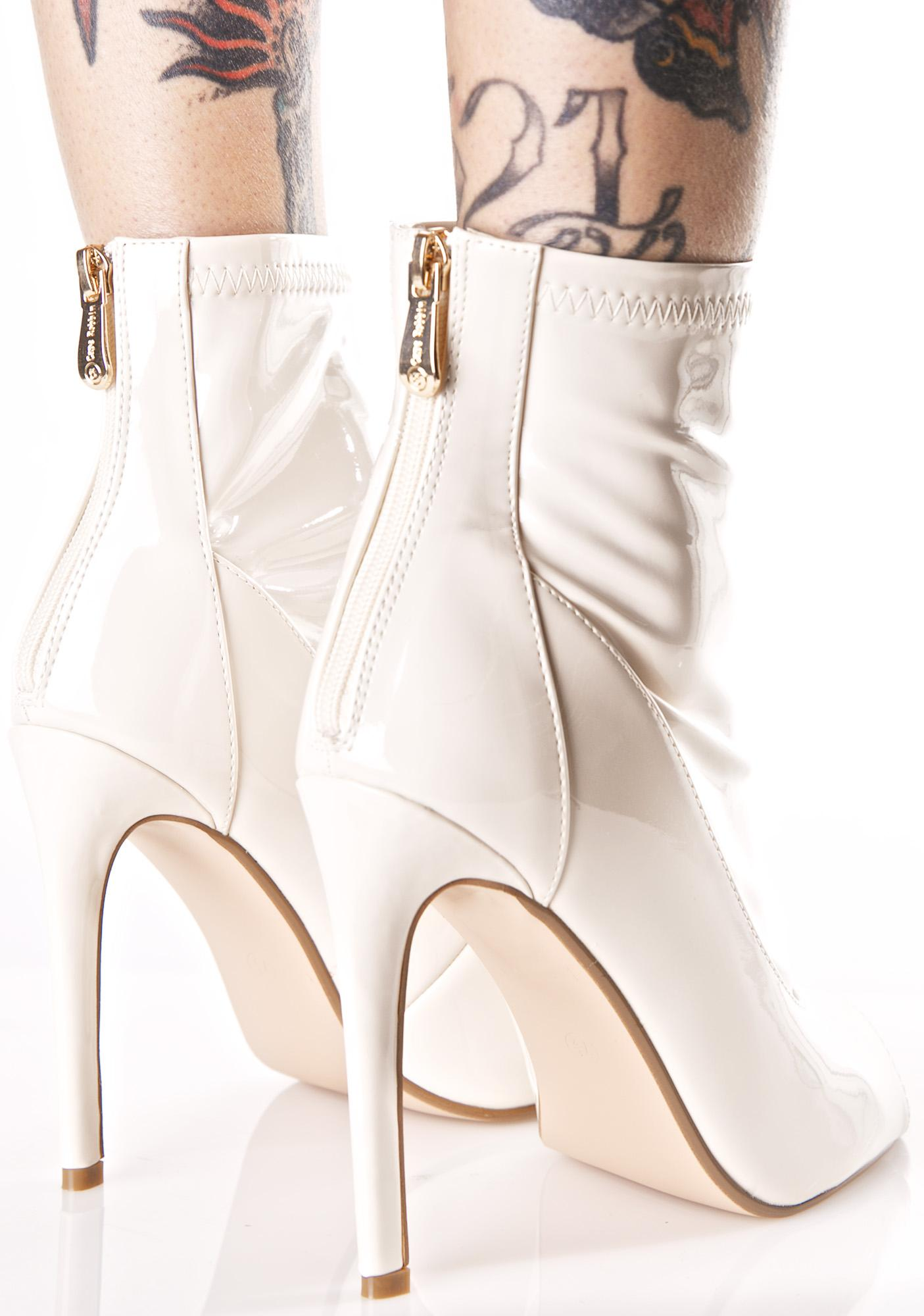 Nude Illusions Peep-Toe Boots
