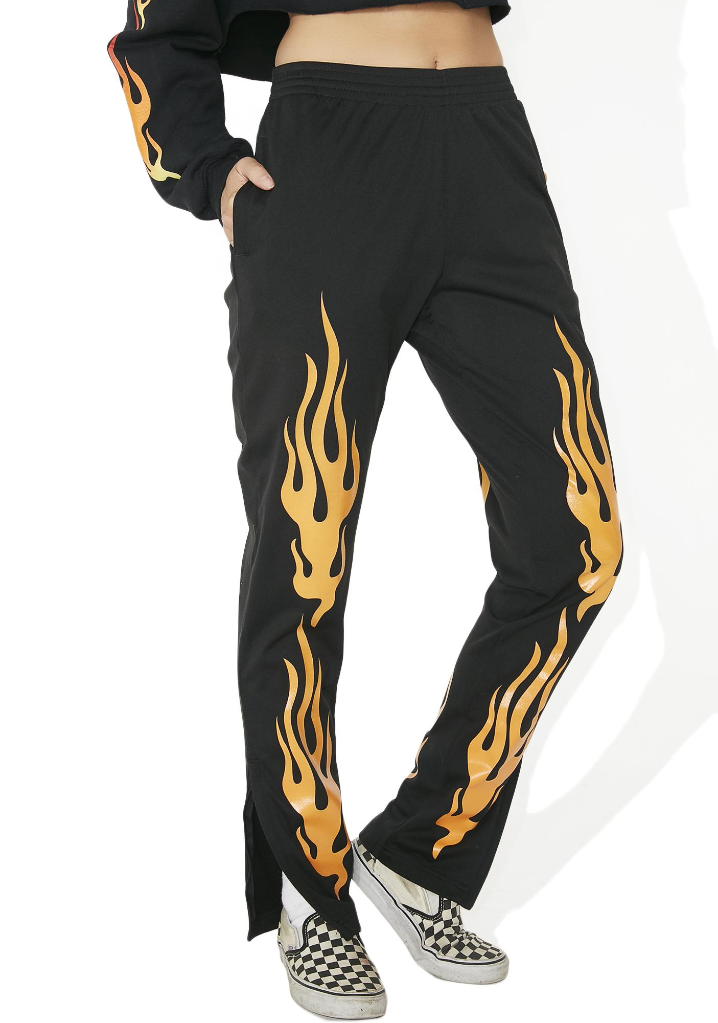 Civil Clothing In Flames Track Pants