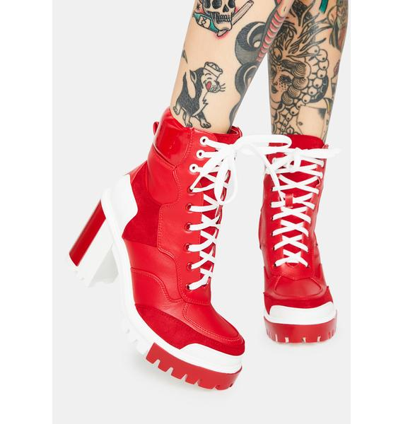 AZALEA WANG Burn Captain Colorblock Ankle Boots