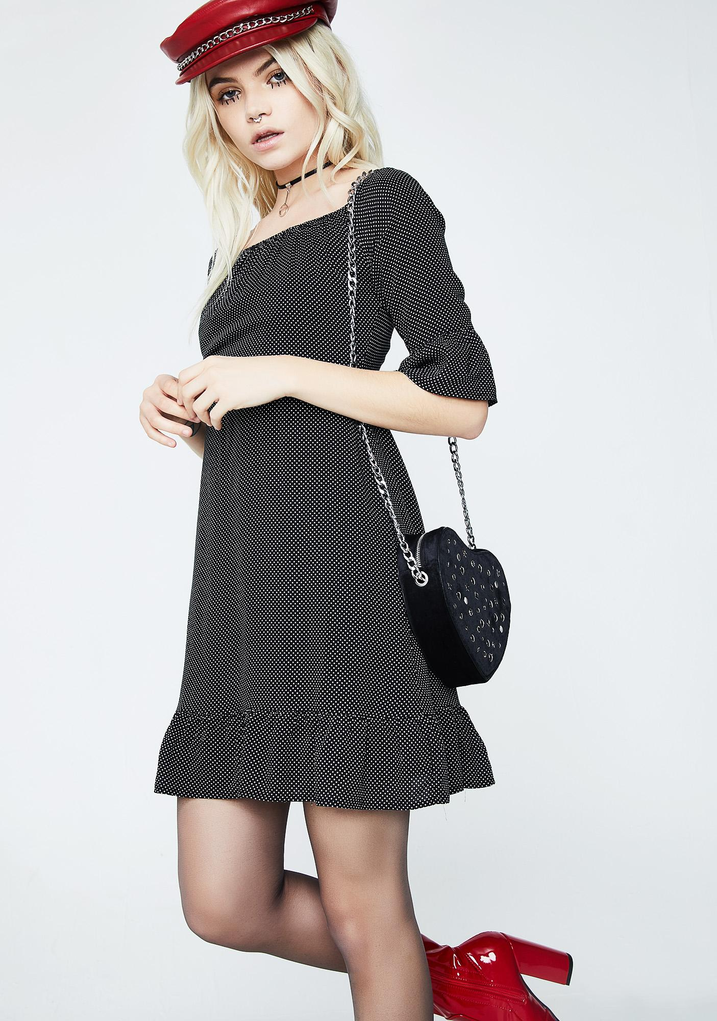 Bisou Pinstripe Ruffle Dress
