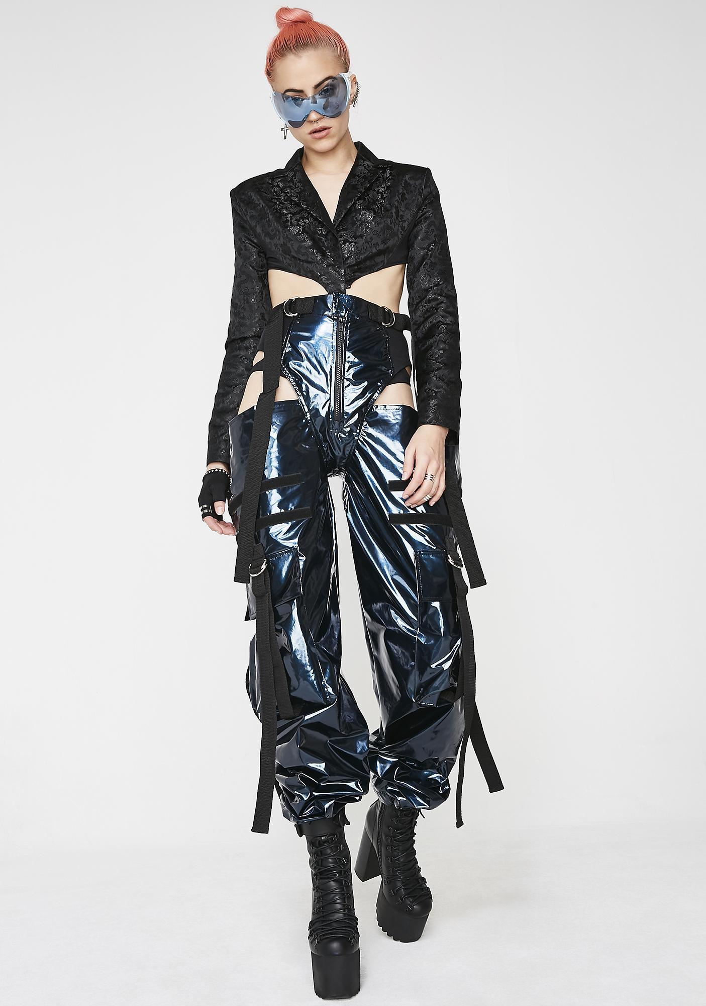 Namilia Black Dragon Brocade GoGo Suit