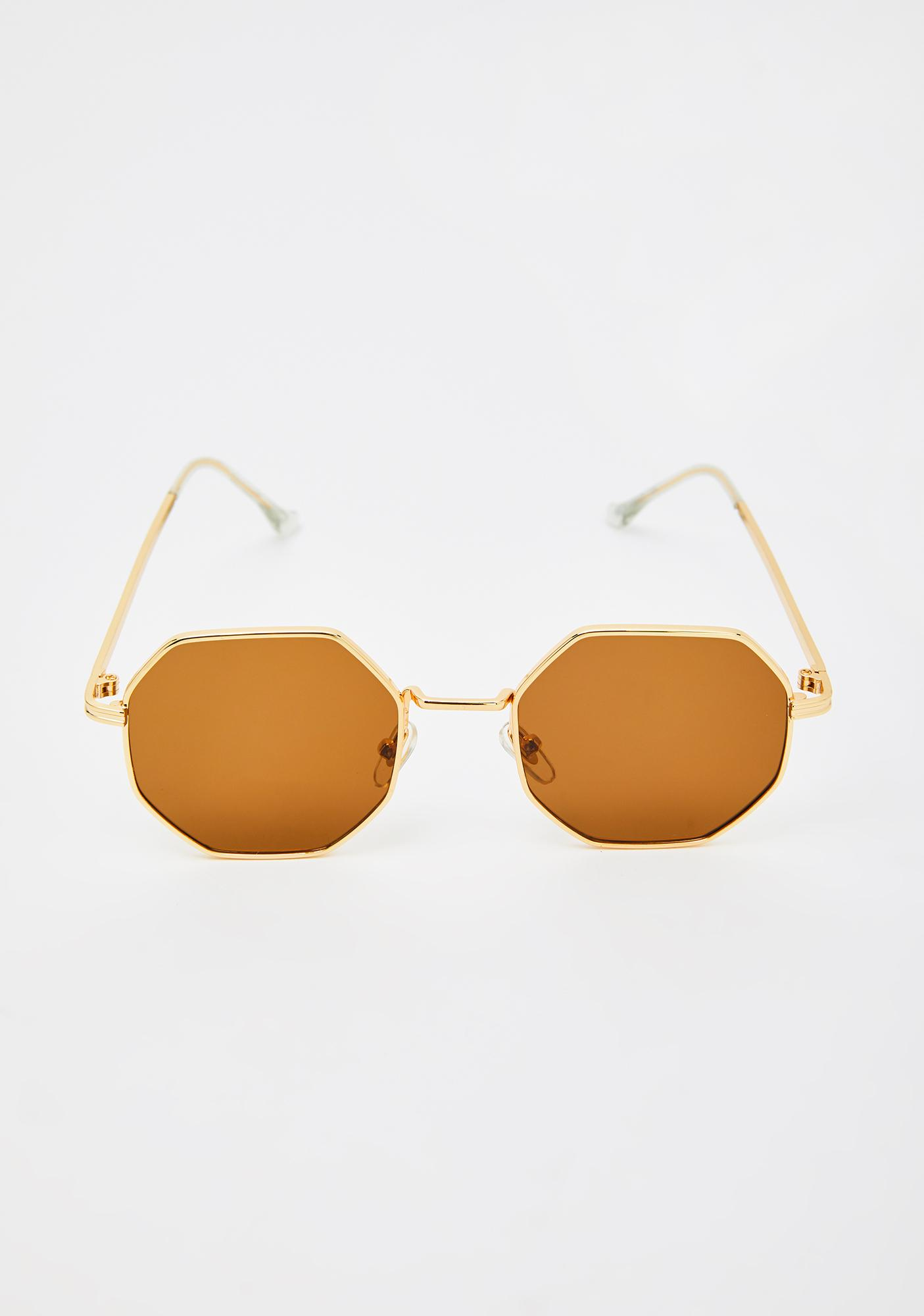 Flashy Girl Octagon Sunglasses