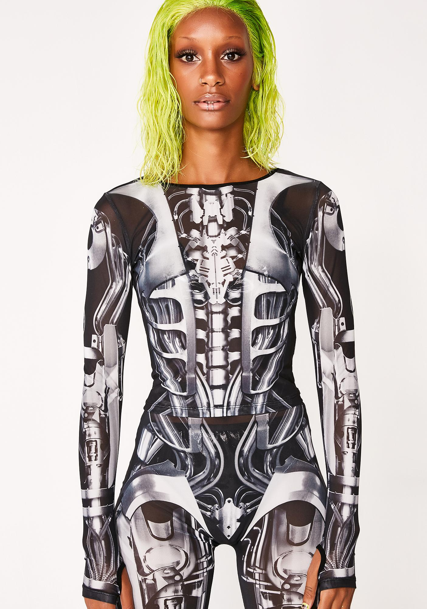 Club Exx Exx Machina Long Sleeve Top