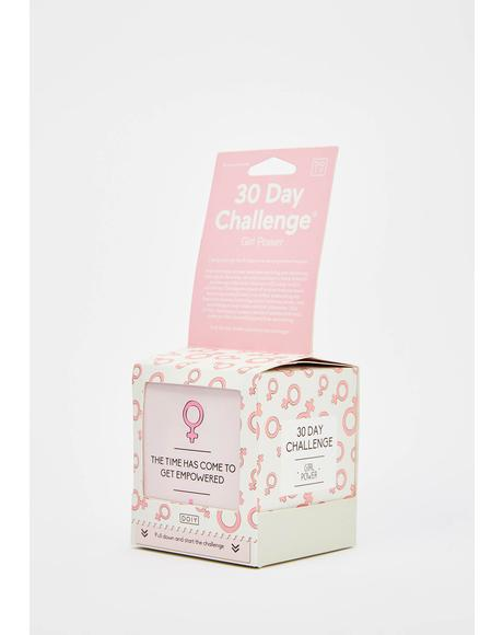 30 Days Of Girl Power Challenge Cards