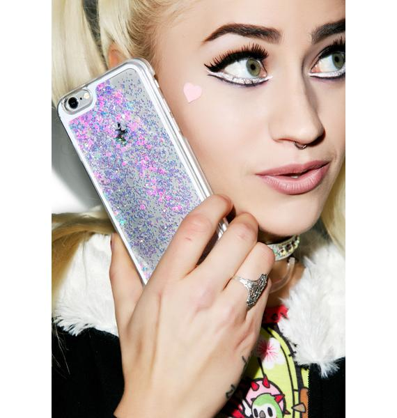 Falling Hearts Glitterfalls iPhone Case