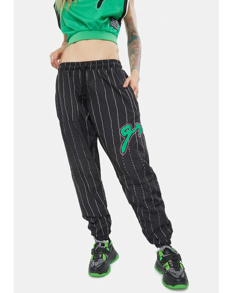 Stripe Black Track Pants