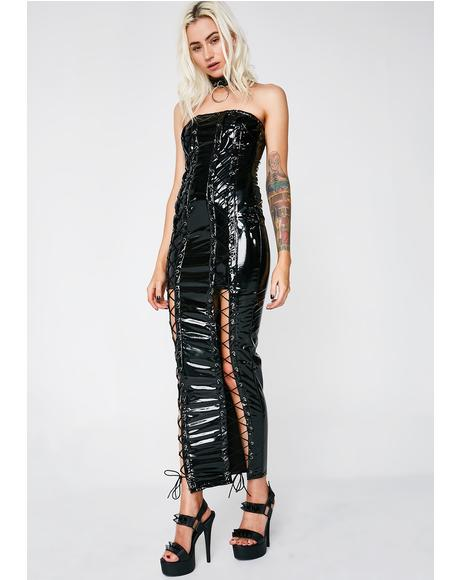 She Rockin' It Vinyl Dress