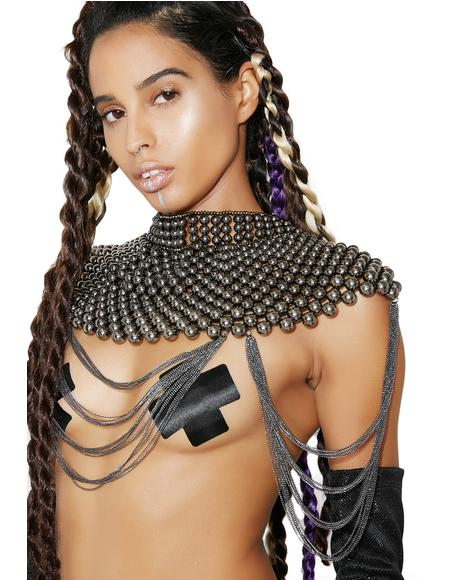Warrior Princess Beaded Collar