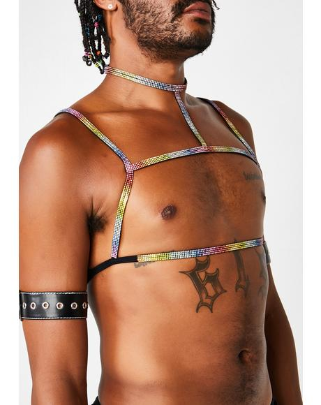 Freaky Mood Rhinestone Harness