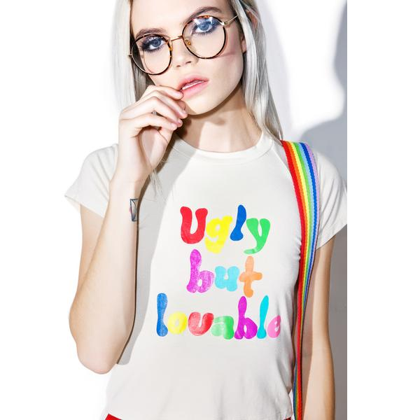 O Mighty Ugly But Loveable Crop Tee