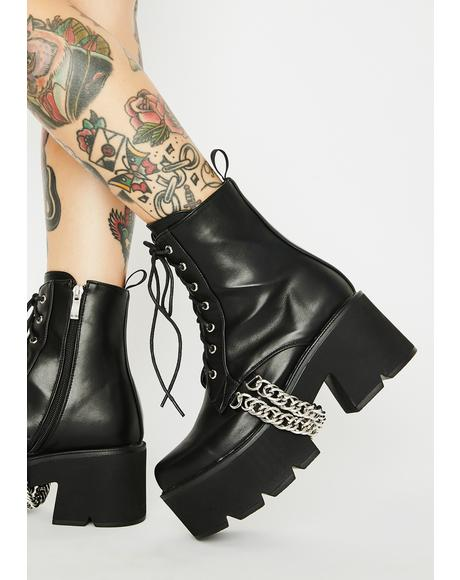 Trapped Platform Boots