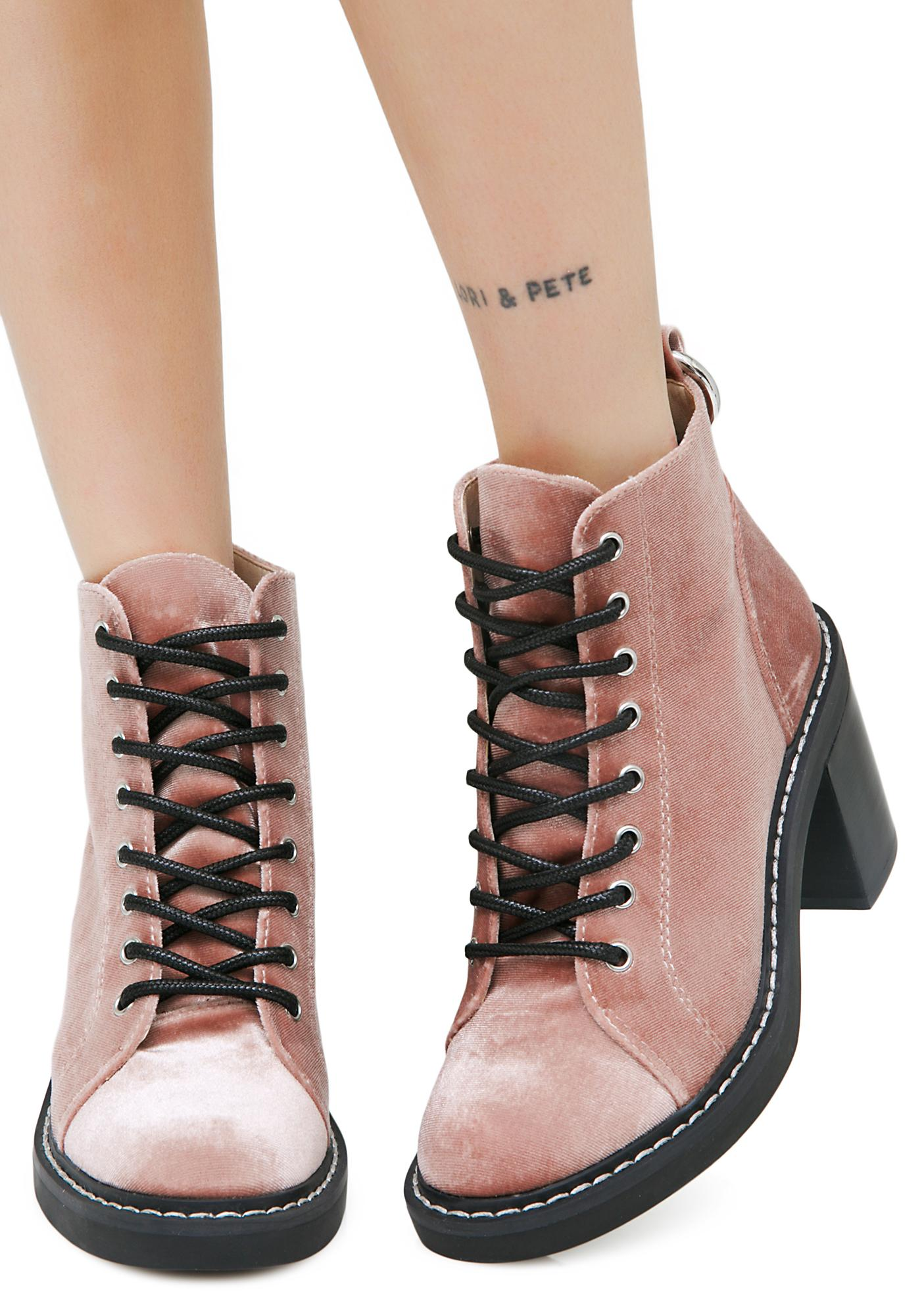 Dolce Vita Lynx Rose Lace-Up Booties