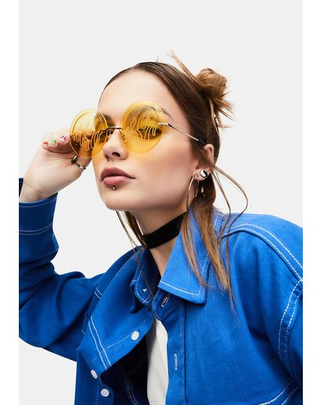 Honey Hot Glare Clear Flame Sunglasses