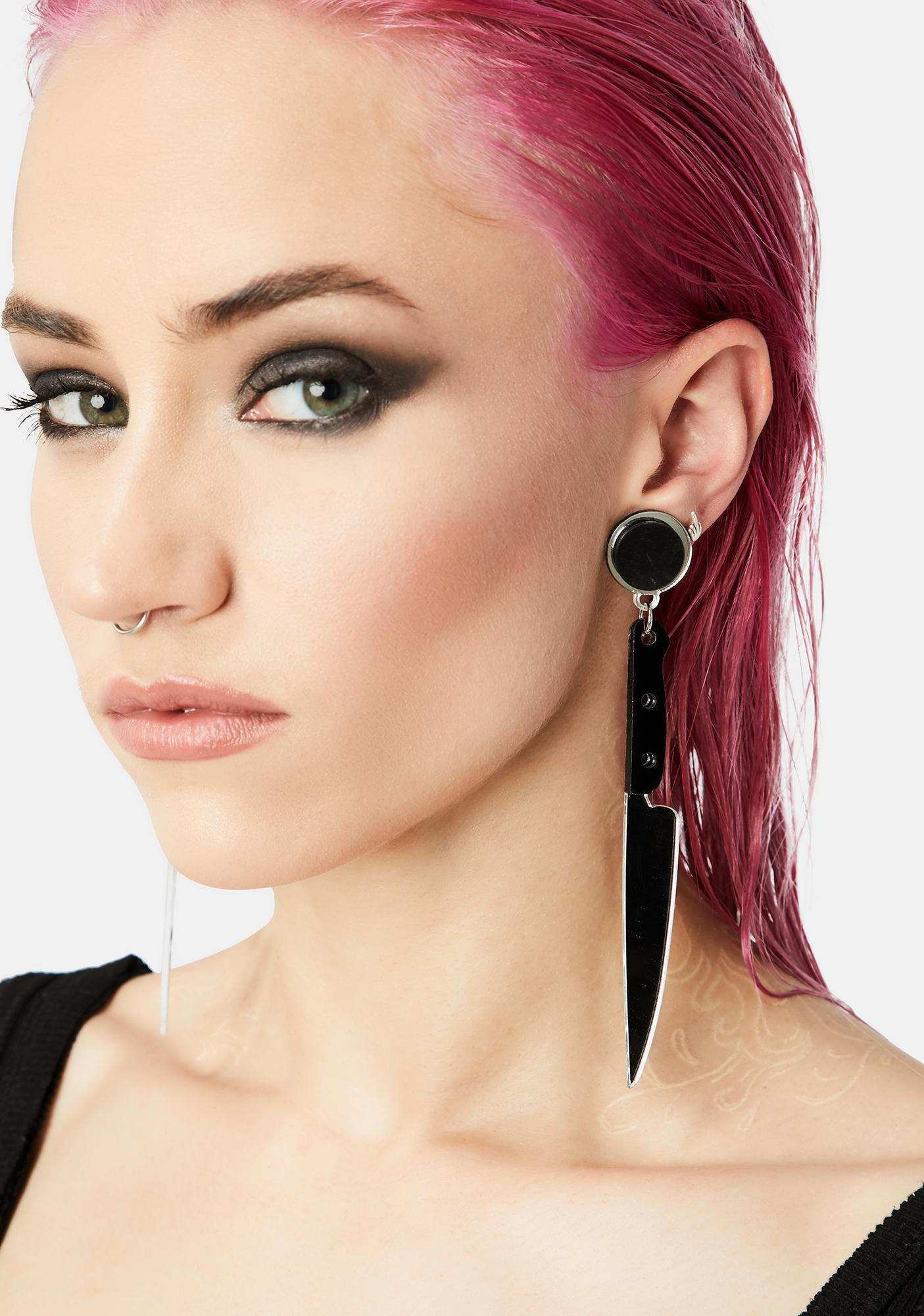 Murderous Intent Knife Earrings