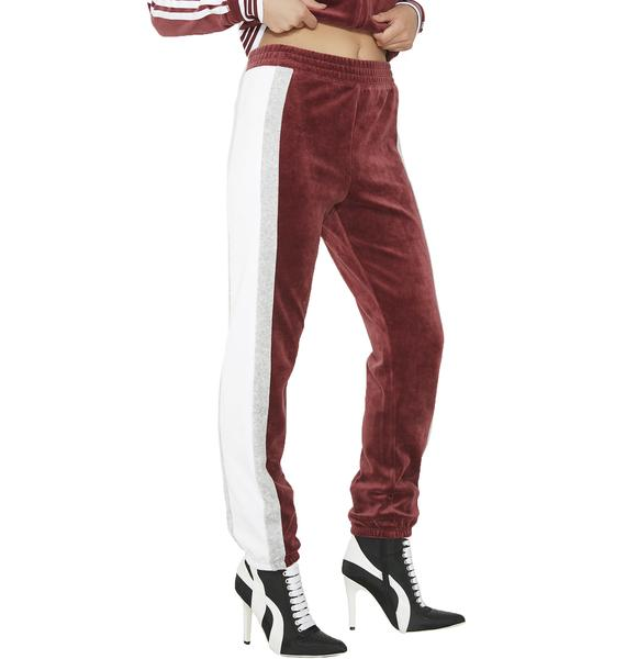 JUICY COUTURE Sporty Heritage Velour Track Pants