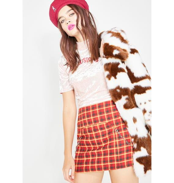 Paint The Town Plaid Skirt