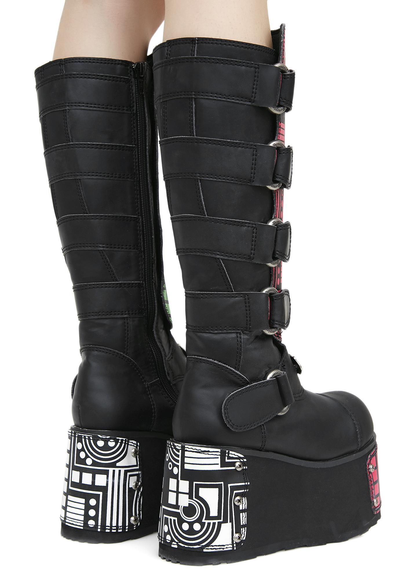 Demonia Hackerz Platform Boots