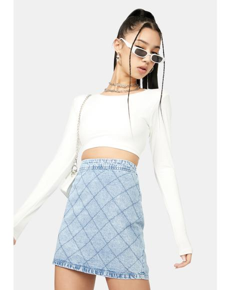Chill With Or Without You Cutout Crop Top