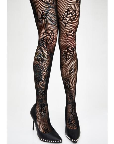 Hex Heathen Pentagram Tights